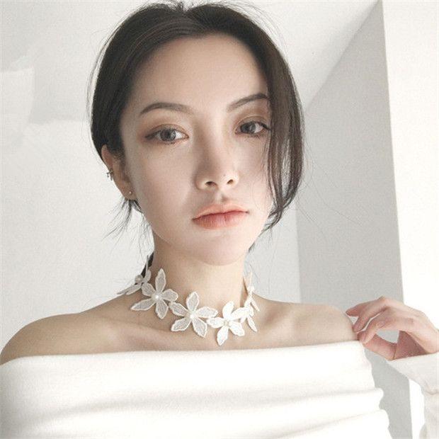 White Flower Lace Choker   2 DOLLARS   AliExpress