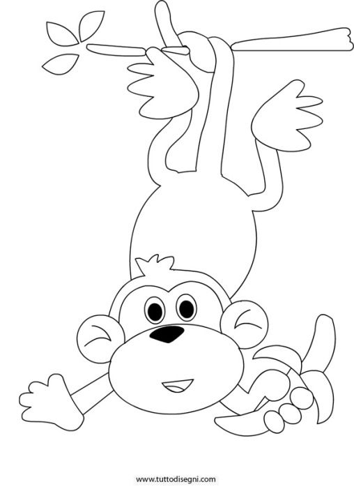 Scimmia Banana állatok Baby Quilts Zoo Animals E Coloring Pages
