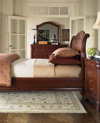 bordeaux louis philippe style king sleigh bed beds furniture macys - Bordeaux Louis Philippe Style Bedroom Furniture Collection