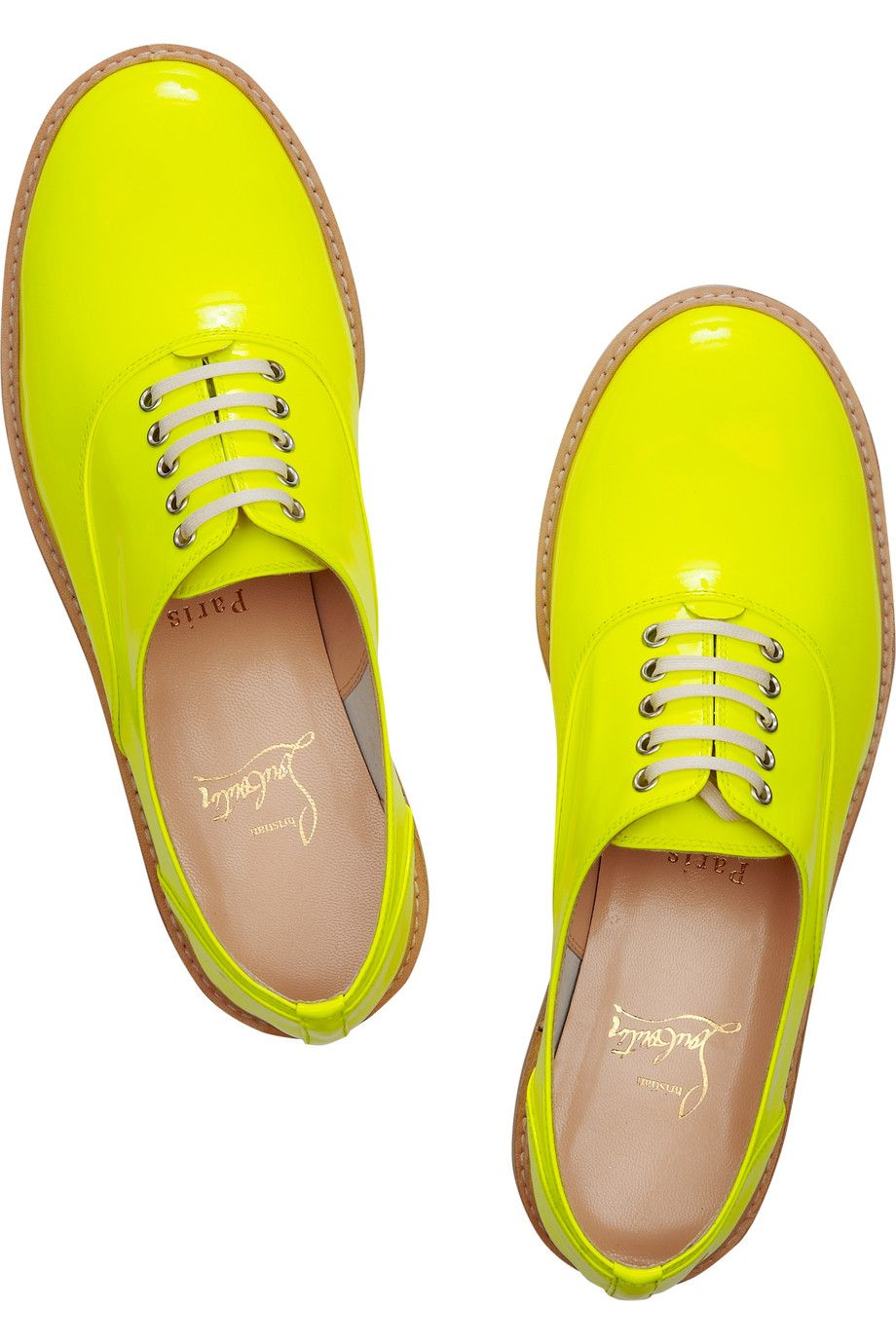 #r29summerstyle | #ChristianLouboutin  Havana patent-leather brogues for $695. NET-A-PORTER.COM