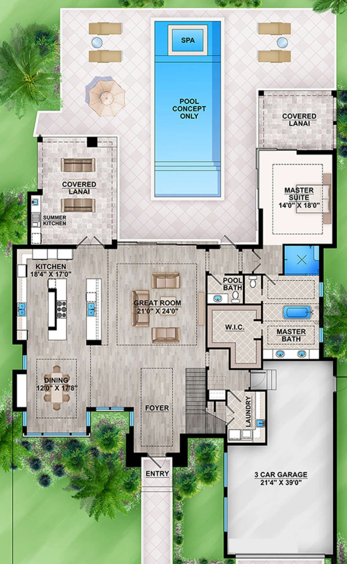 House Plan 207 00036 Mid Century Modern Plan 3 730 Square Feet 3 Bedrooms 3 5 Bathrooms Mid Century Modern House Plans Modern Floor Plans Modern House Plans