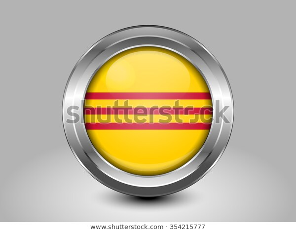 Flag South Vietnam Metal Round Icons Stock Vector Royalty Free 354215777 V 2020 G