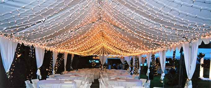 Wedding Tent Lighting | Rental lighting in Hawaii - party lights wedding lighting & Wedding Tent Lighting | Rental lighting in Hawaii - party lights ...