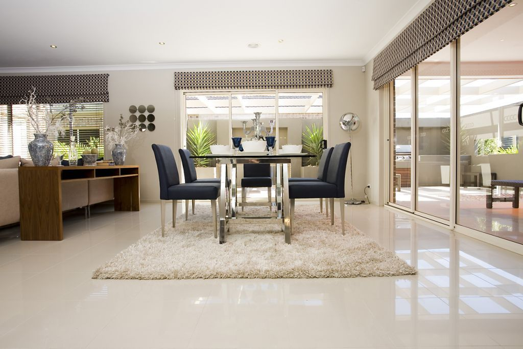Dining room tiles stratos limestone polished interior for Dining room tile floor designs