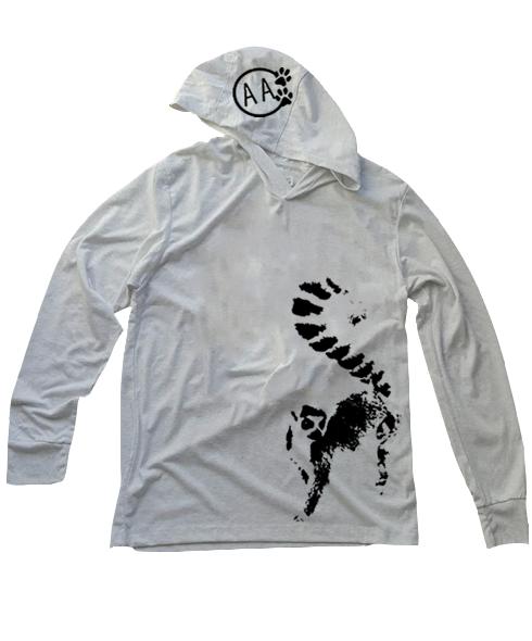 I Love Heart Lemurs Black Kids Sweatshirt