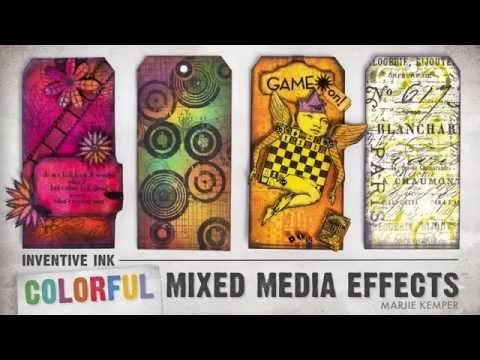 Inventive Ink – Colorful Mixed Media Effects online class.  Register here: craftsy.me/1ONw8iG