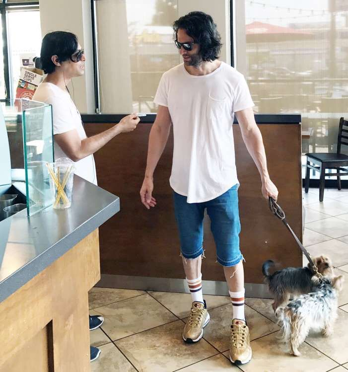 Celebs and their pets in 2017 Chris D'Elia ran errands
