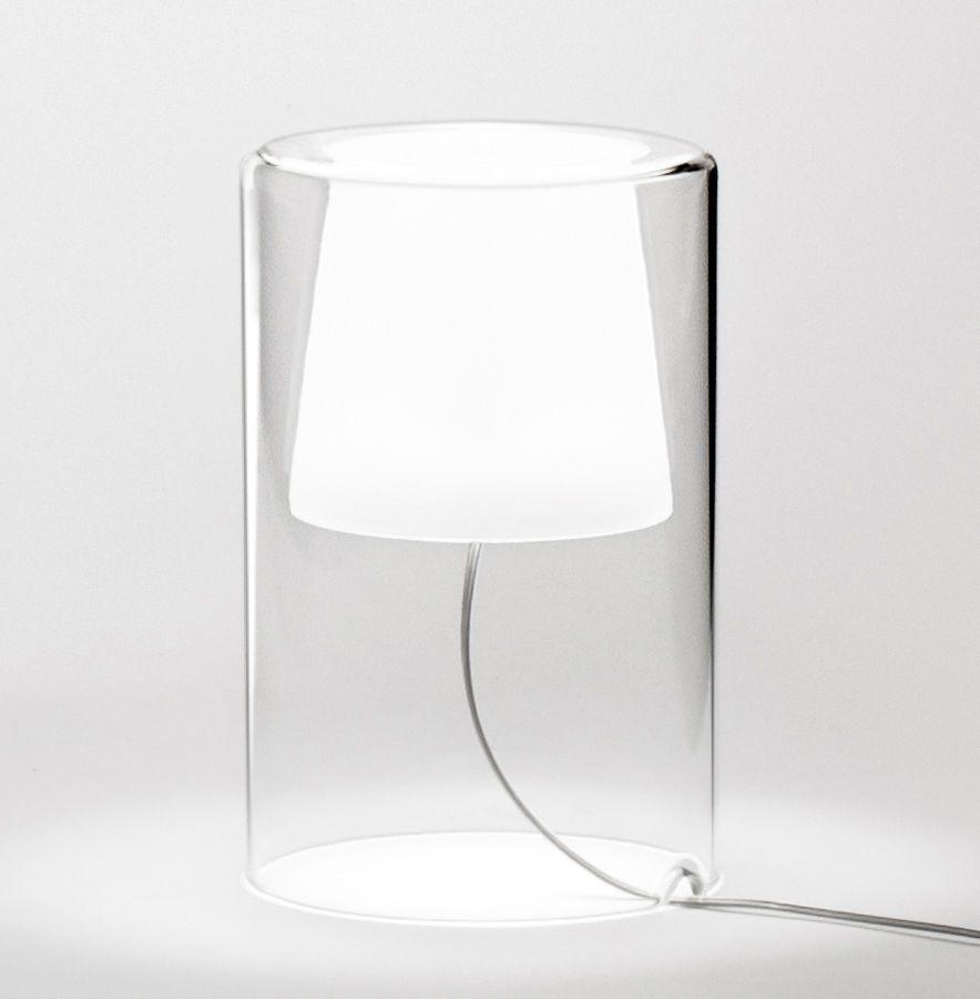 Lampe De Table Join Vibia Blanc Transparent Made In Design Lampe De Chevet Design Lamp Lampe De Table Blanche