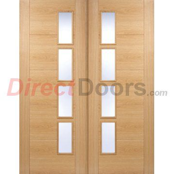 A new double door for the office or home Vancouver Oak Door Pair with Clear Glazed Offset and Pre-finished.  sc 1 st  Pinterest & A new double door for the office or home Vancouver Oak 4L Door Pair ...