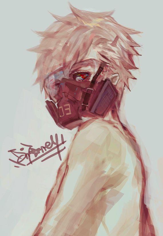 Anime Boy Popular Art Anime Gas Mask Dark Anime