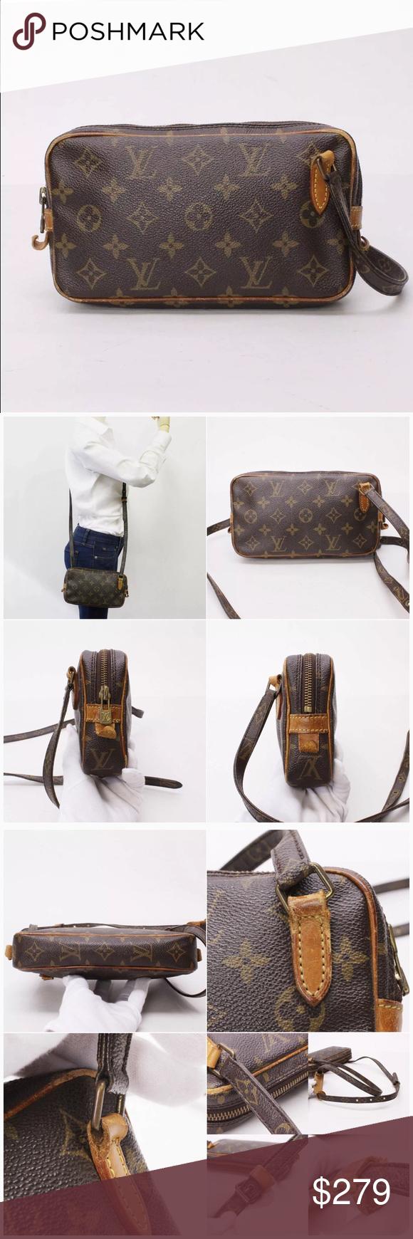 1de07373aced 💯Authentic Louis Vuitton Marly Bandouliere bag 100% Authentic! Cross body  vintage Leather trims