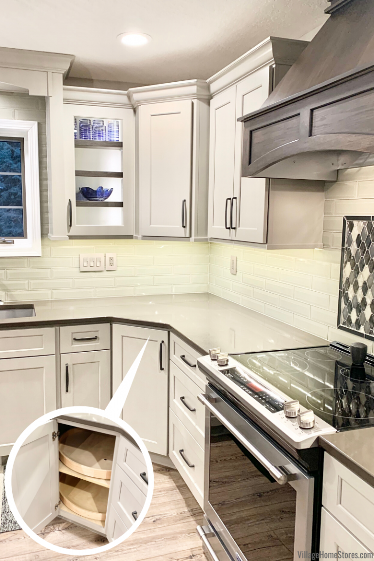 Kitchen With Angled Corner Lazy Susan Cabinet Village Home Stores Blog In 2020 Kitchen Pantry Design Diy Kitchen Remodel Corner Kitchen Pantry