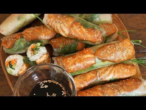 Rouleaux de Printemps au Saumon Sauce Teriyaki - Cooking ...