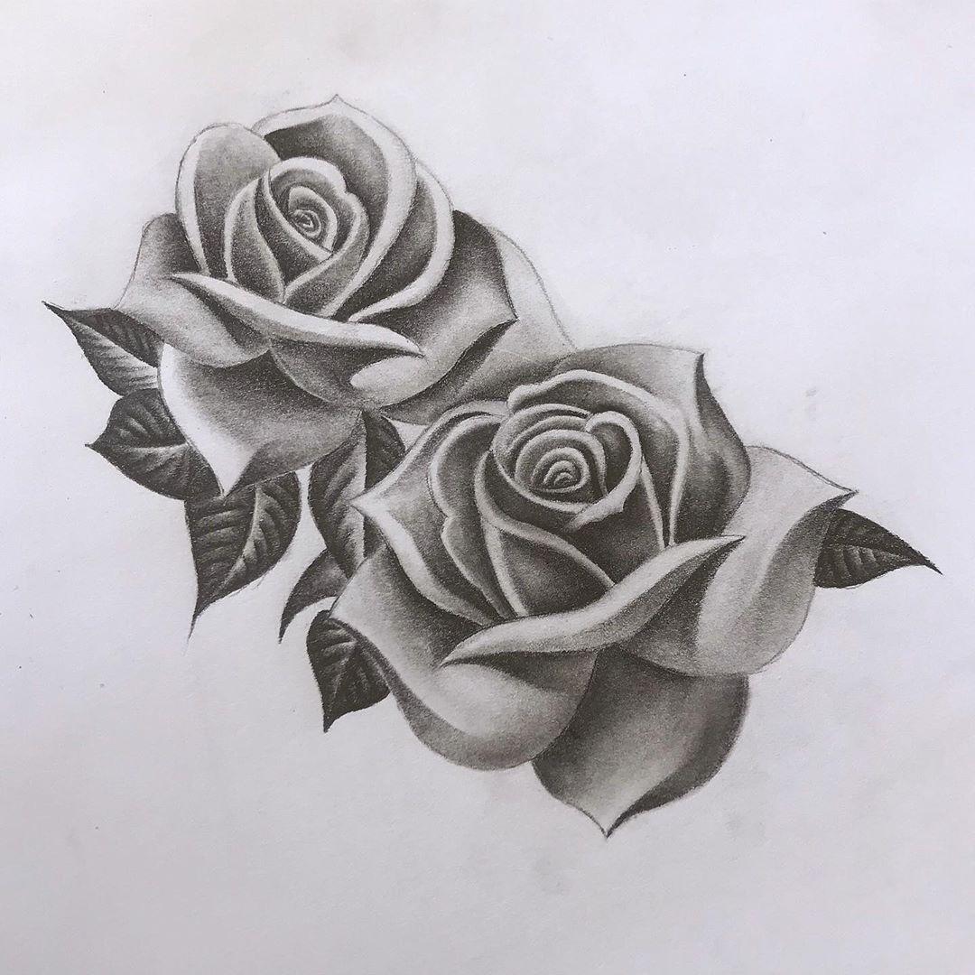 Roses Tattoo Idea Design Black And White In 2020 White Rose Tattoos Black And White Rose Tattoo Realistic Rose Tattoo