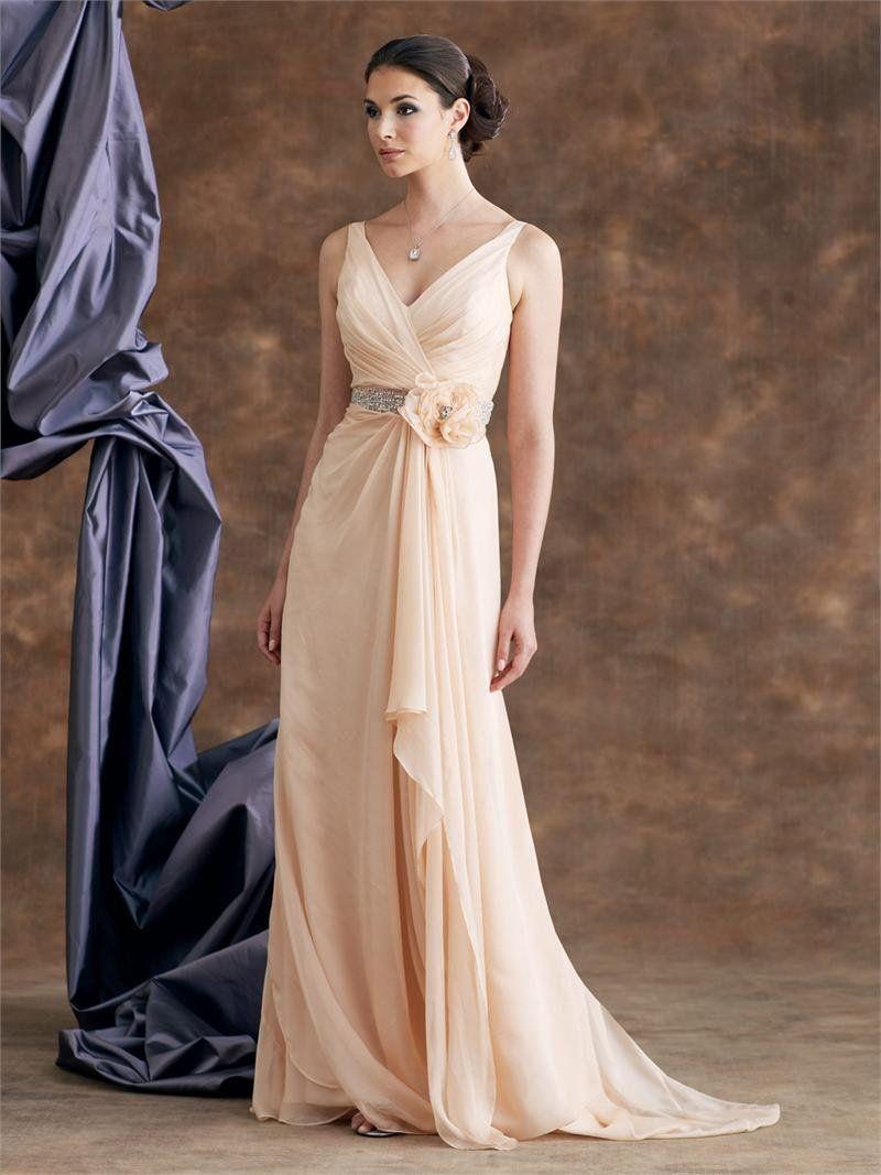 Jessica simpson wedding dress  PeachColorNieuwewintercolumnvhalsvloerlengthbruidsmeisje