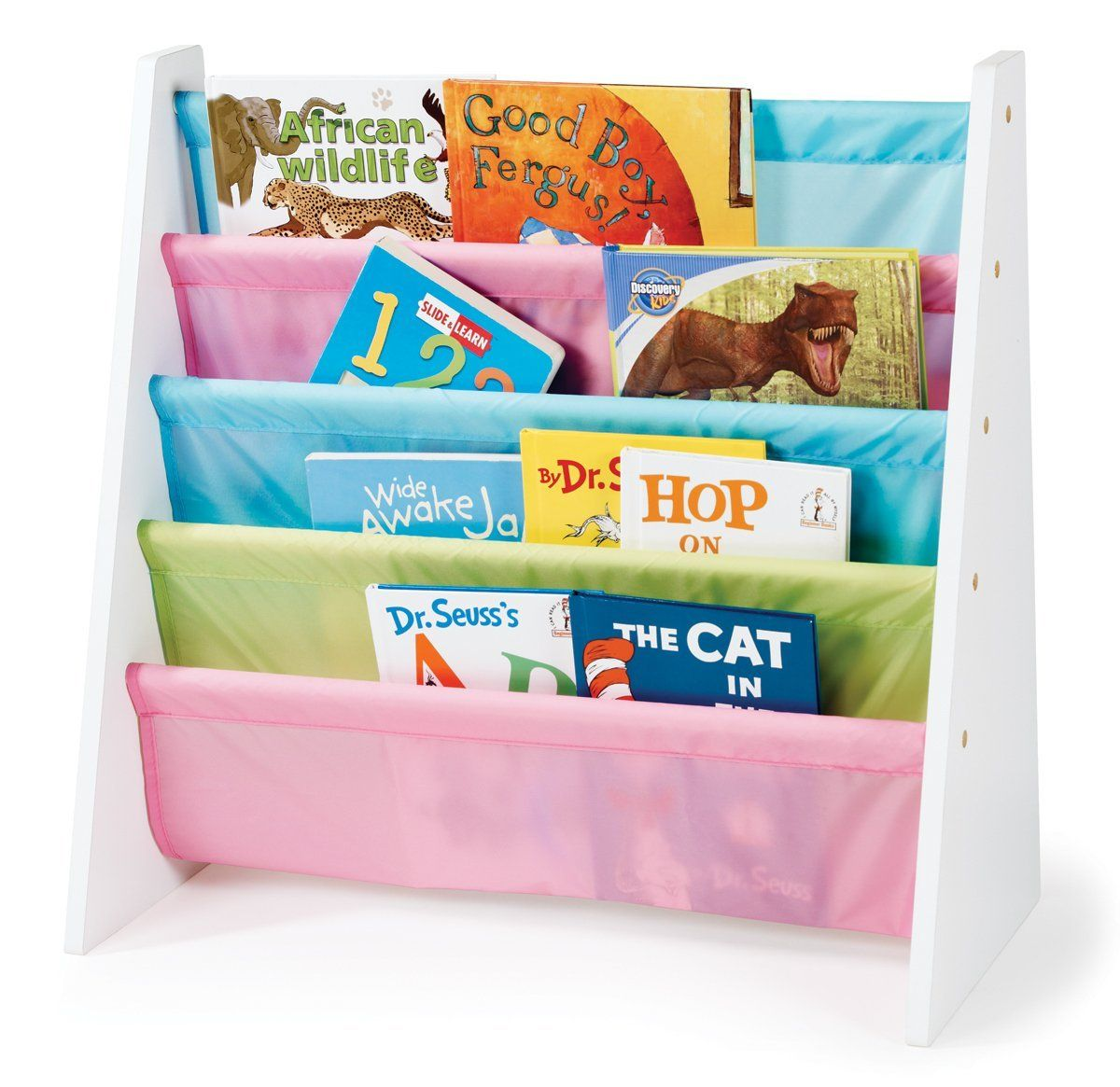 childrens bookcases and storage tot tutors wo594 pastel color book rack toddler book shelves - Color Book For Toddler