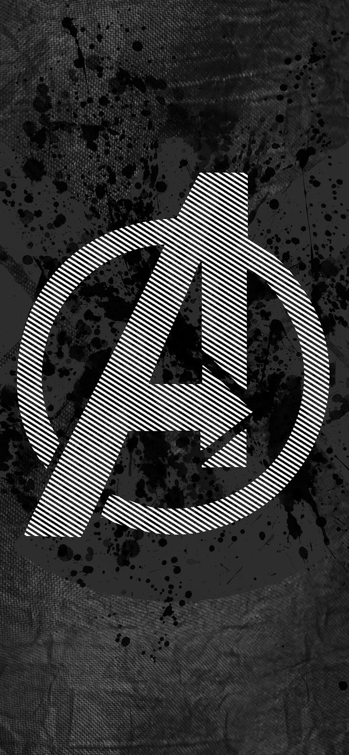 Papers Co Am03 Avengers Logo Art Hero Dark 41 Iphone Wallpaper Jpg 1125 2436 Avengers Logo Logo Wallpaper Hd Avengers Wallpaper