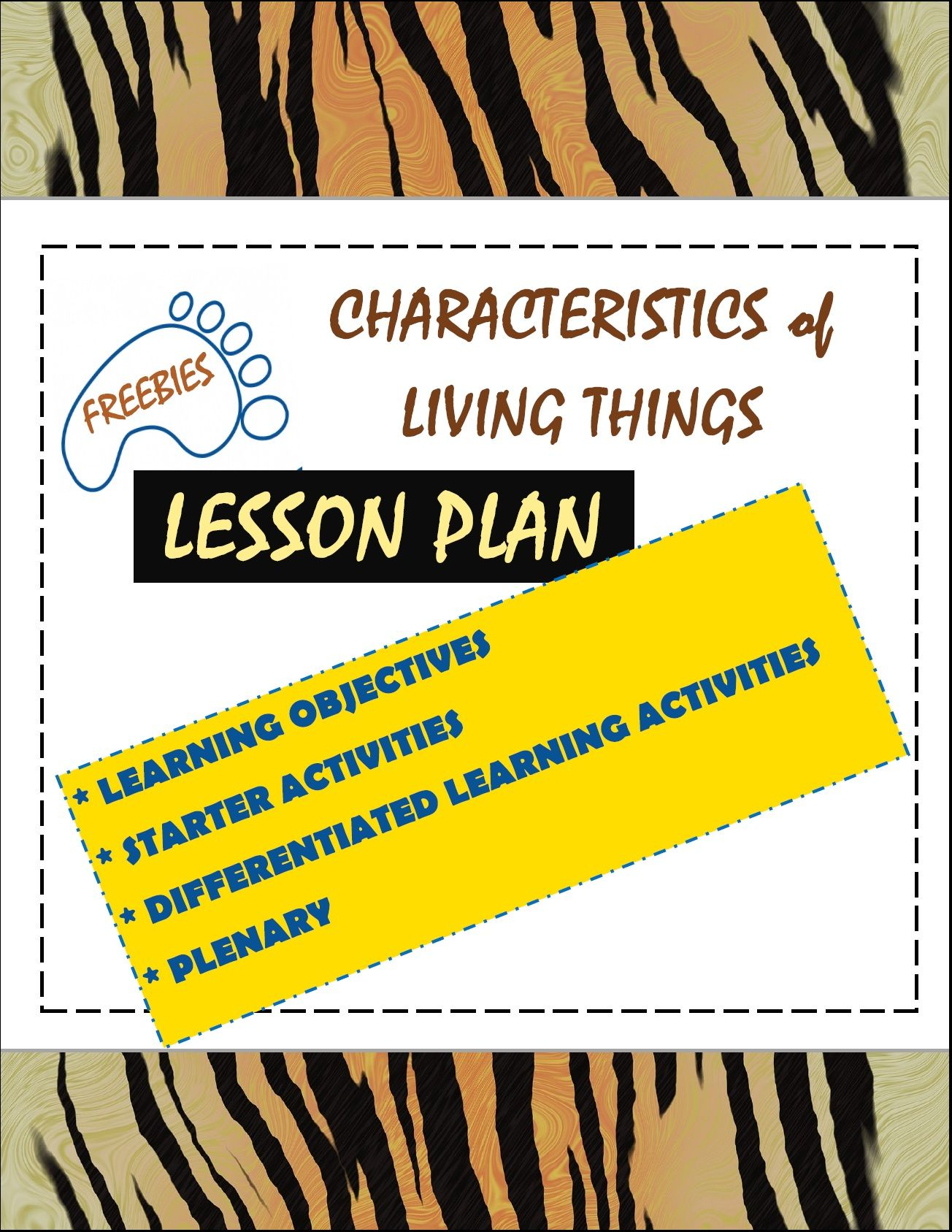 A Free Lesson Plan On The 7 Characteristics Of Living