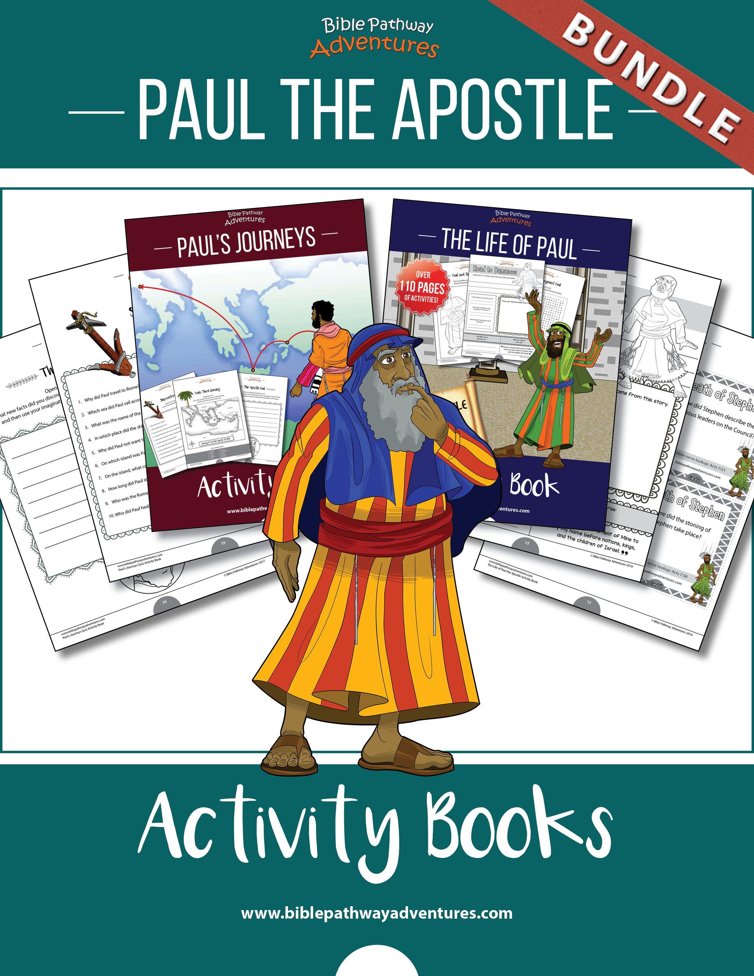 Bundle Paul The Apostle Activity Books