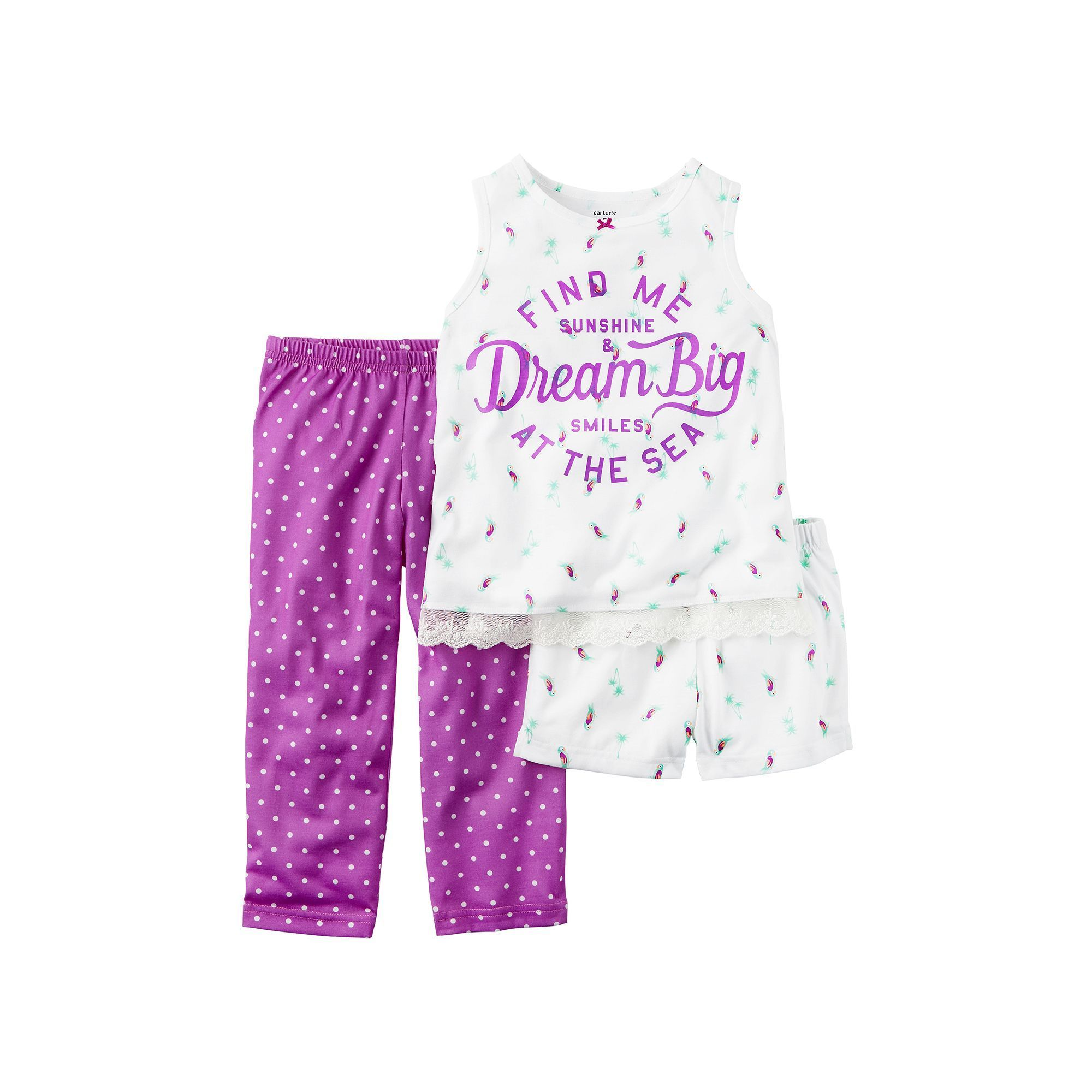 758295881 Girls 4-14 Carter s Dot   Print Pajama Set