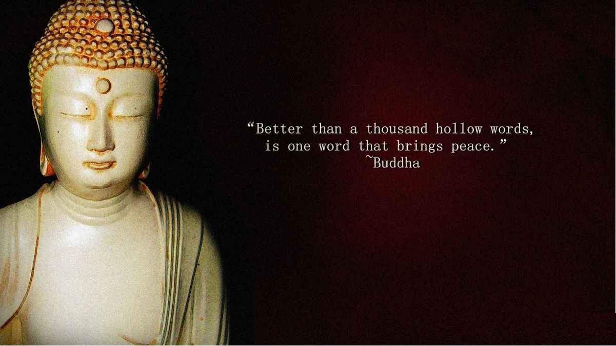 Buddhist Quotes On Love Buddha  Better Than A Thousand Hollow Words Is One Word That