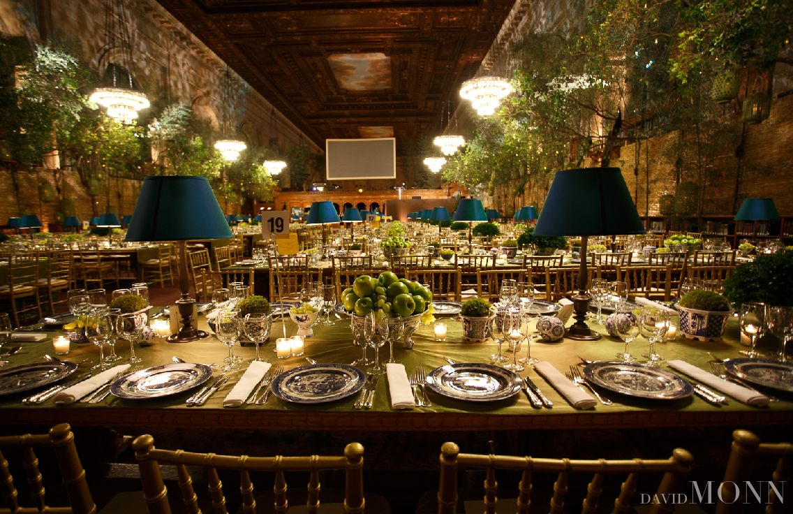 David Monn    Green and Blue dinner party