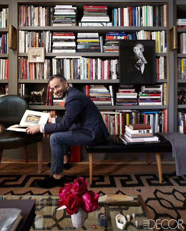 Elle Decor Bookshelves: Elle Decor-Fashion Designers Altuzarra, Reed Krakoff