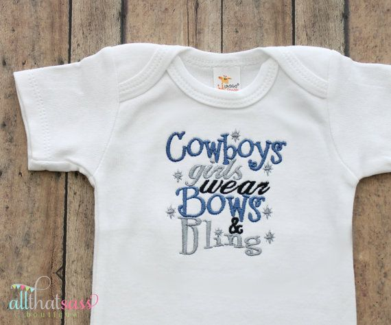 a3a944e80b5 Dallas Cowboys Girls Bodysuit - Creeper - Football - Sports - Texas - Baby  Girls Clothing - Baby Shower Gifts - by AllThatSassBoutique on Etsy