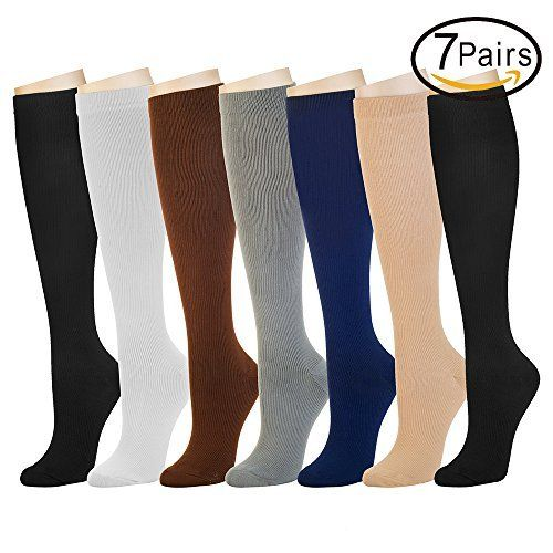 f2fca039480 7 Pairs Compression Socks For Women and Men — Best Athletic