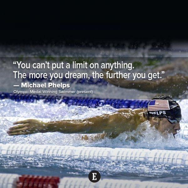 15 Motivational Quotes From Legends In Sports Michael Phelps Quotes Michael Phelps Swimming Motivational Quotes