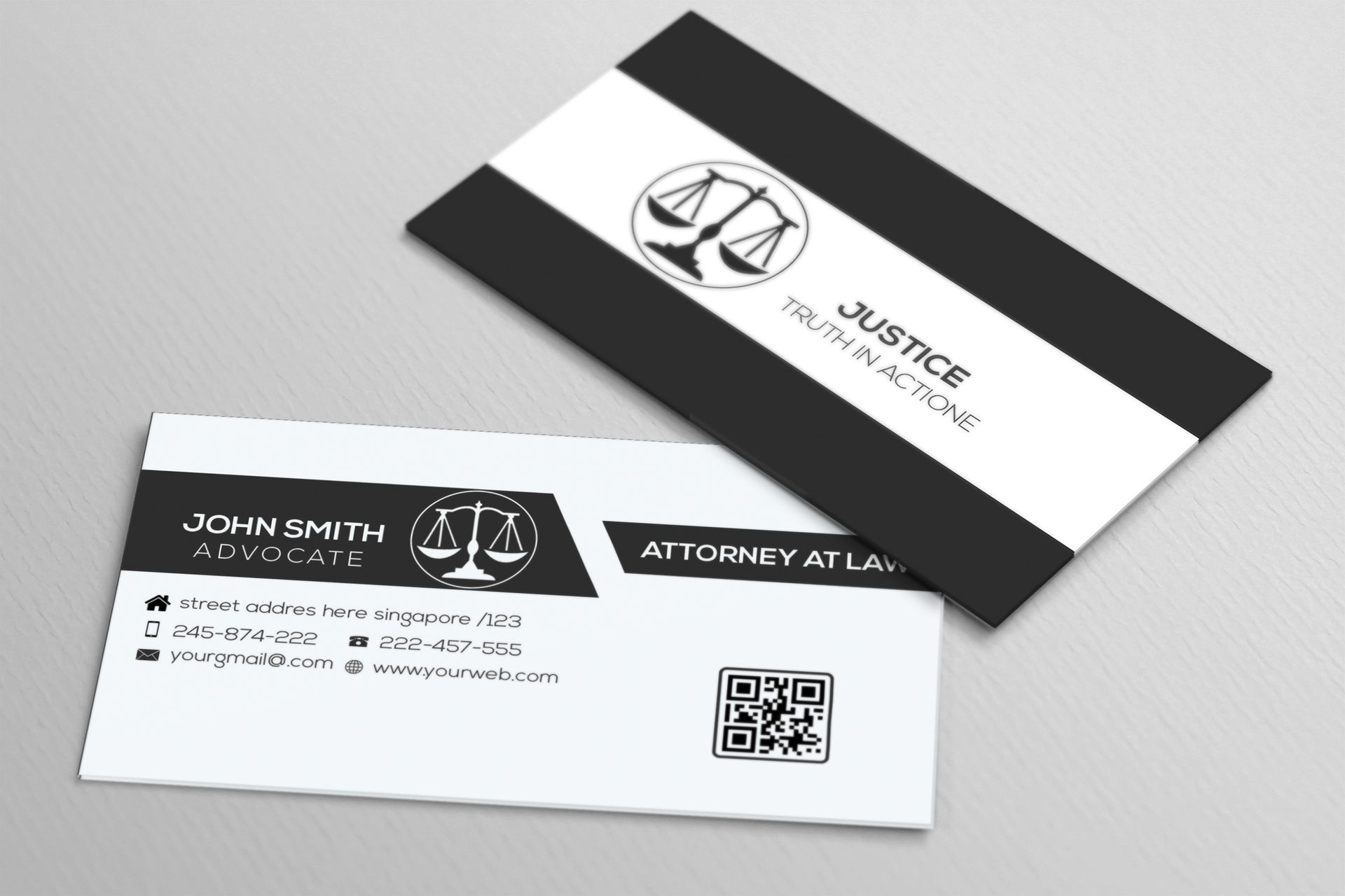 Lawyer Business Card On Behance Lawyer Business Card Business