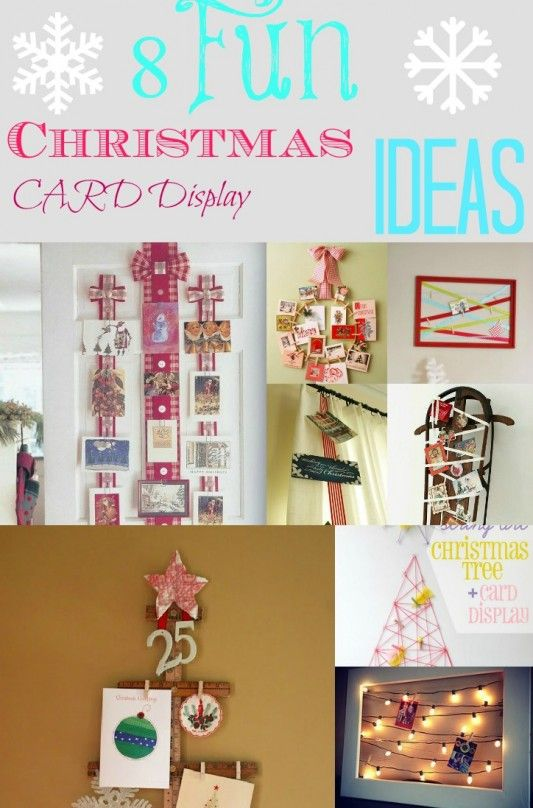 8 Fun Ways To Display Those Christmas Cards Card displays