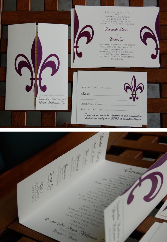 Cheap Fleur De Lis Wedding Invitations | fleur de lis, wedding ...