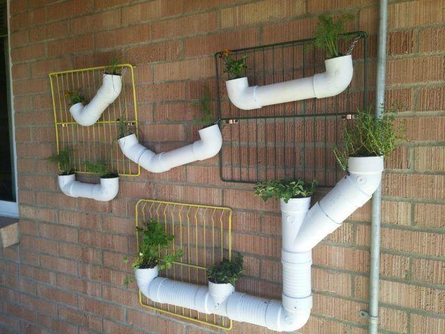 Aus PVC-Rohren Blumentöpfe machen on http://www.drlima.net