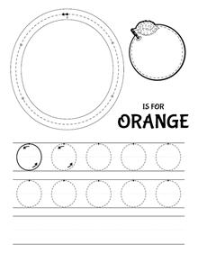 o is for orange tracing worksheet dlya detey pinterest tracing worksheets worksheets. Black Bedroom Furniture Sets. Home Design Ideas
