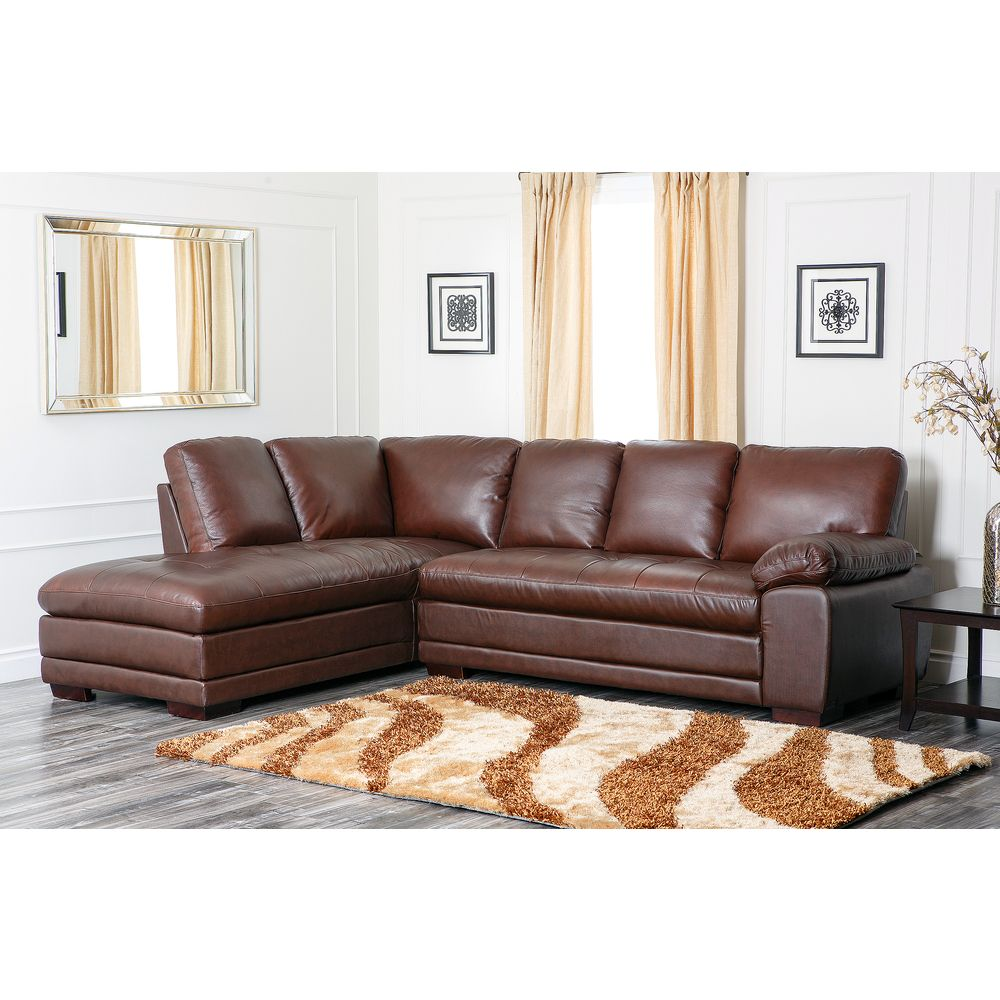 Best Online Furniture Shopping: Abbyson Living Cooper Top Grain Leather Sectional