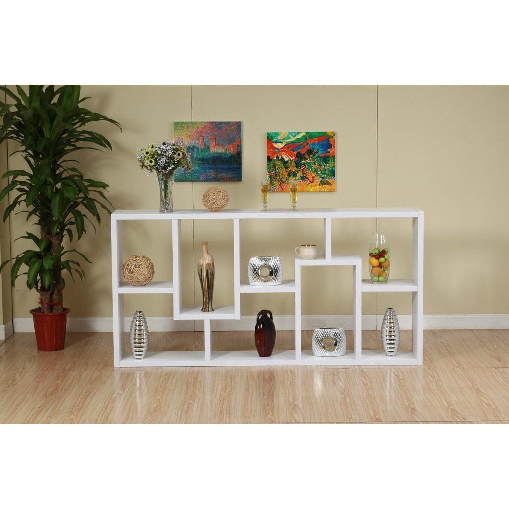Unique Book Case furnituremaxx white two way display cabinet / bookcase : plant