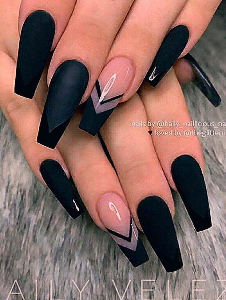 Black Coffin Nails Nails