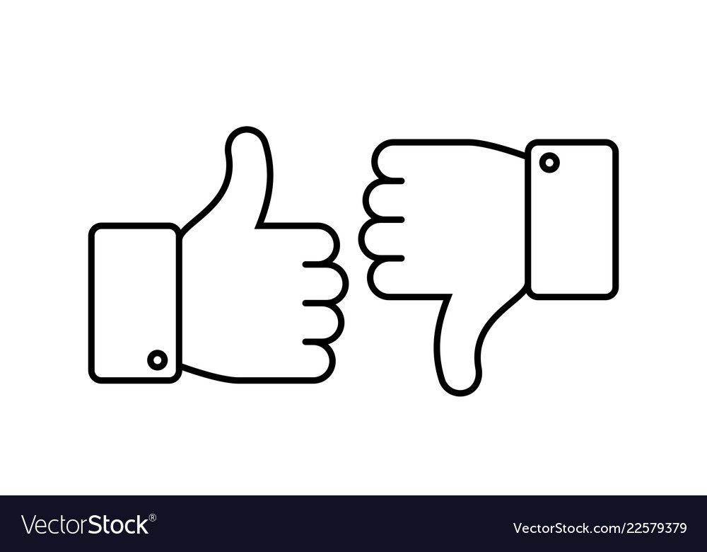 Thumbs Up And Down Like And Dislike Line Icons Social Networks Outline Agreement Positive And Negative Or Bad Unlike An Line Icon Dislike Likes And Dislikes