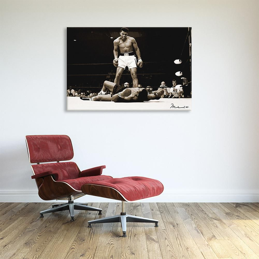 muhammad ali vs sonny liston 1965 canvas print walls
