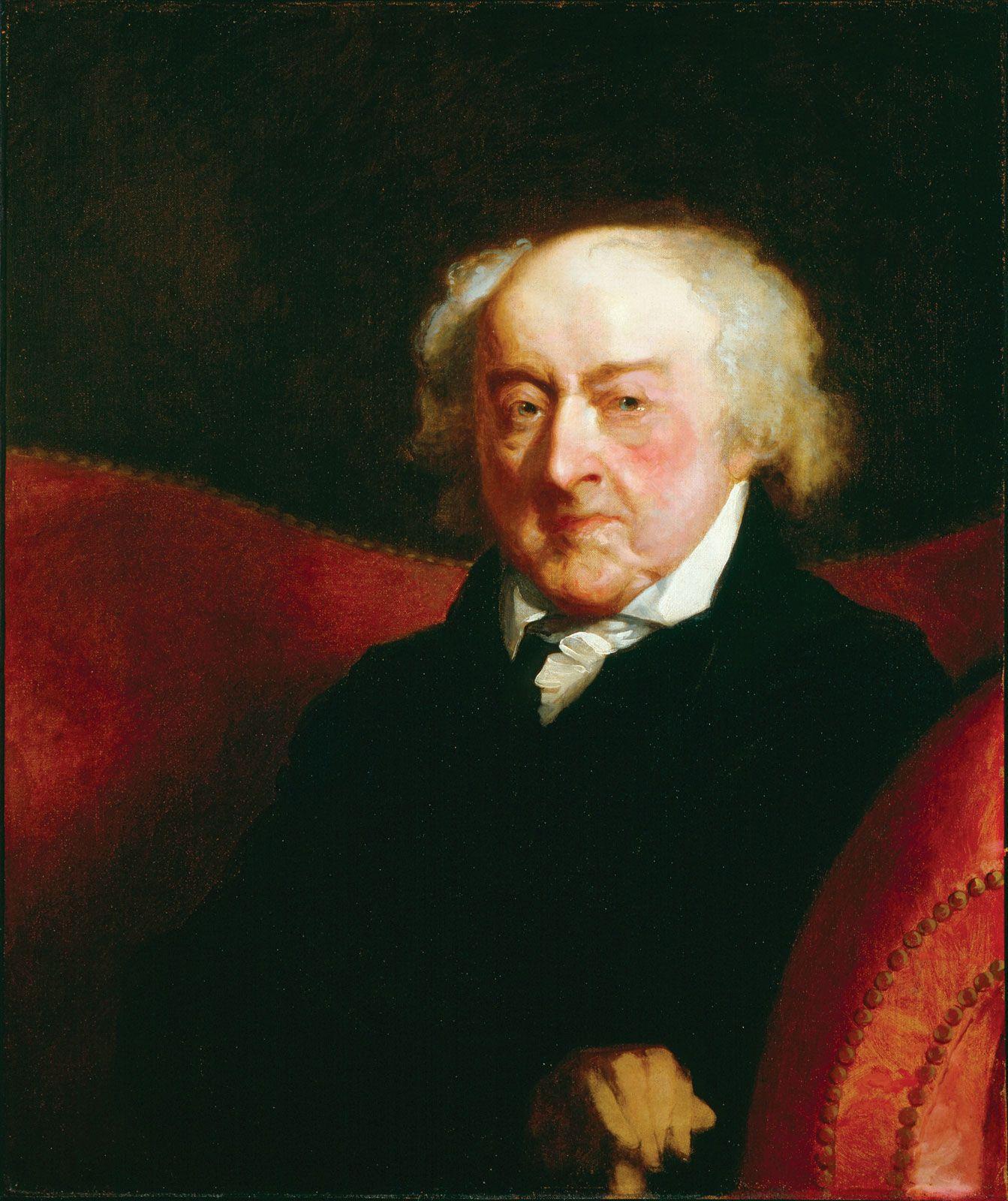 Quotes About George Washington By John Adams: John Adams # 2 By Gilbert Stuart, 1826