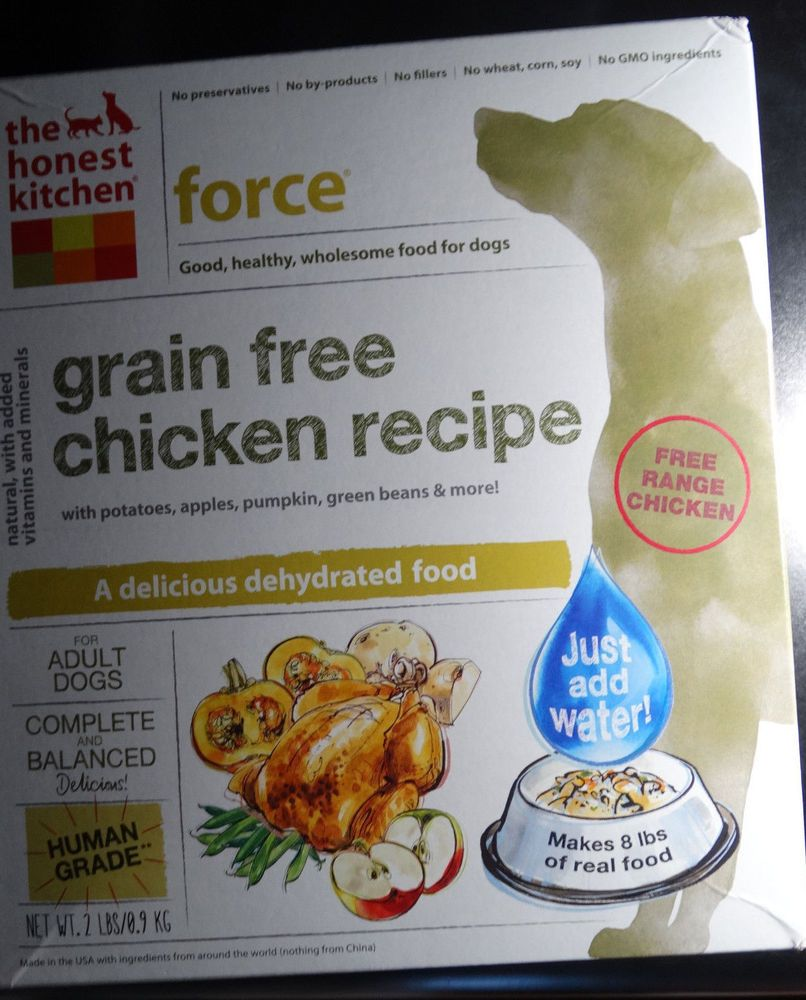 The Honest Kitchen Force Grain Free Human Grade Dehydrated Chicken Dog Food  2Lbs