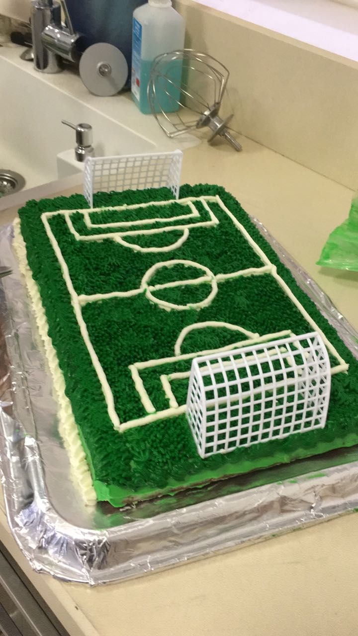 Soccer Field Cake With Images Soccer Birthday Cakes Birthday