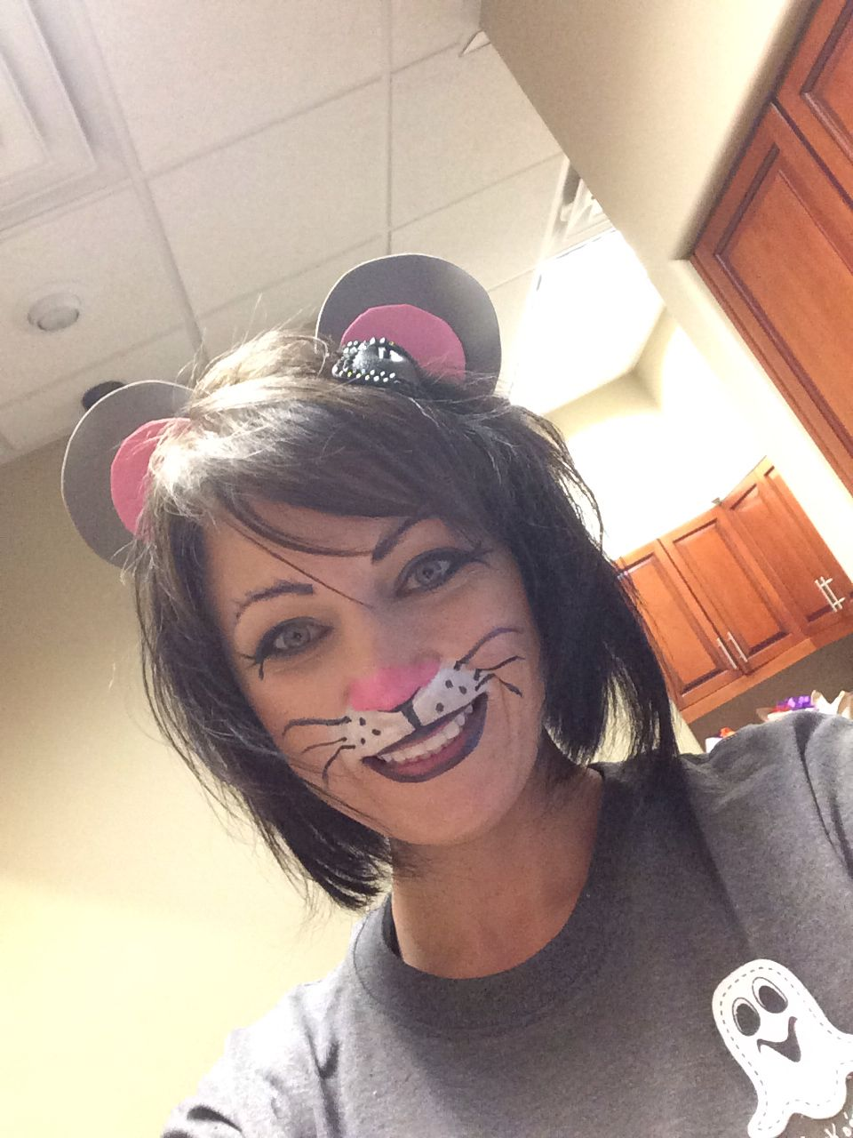 Mouse Face Painting Decor