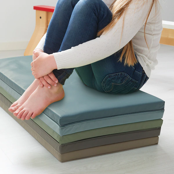 PLUFSIG Folding gym mat blue IKEA in 2020 Folding