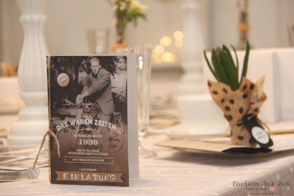 Tischdekoration Zum 80 Geburtstag Tischdekoration Einladung