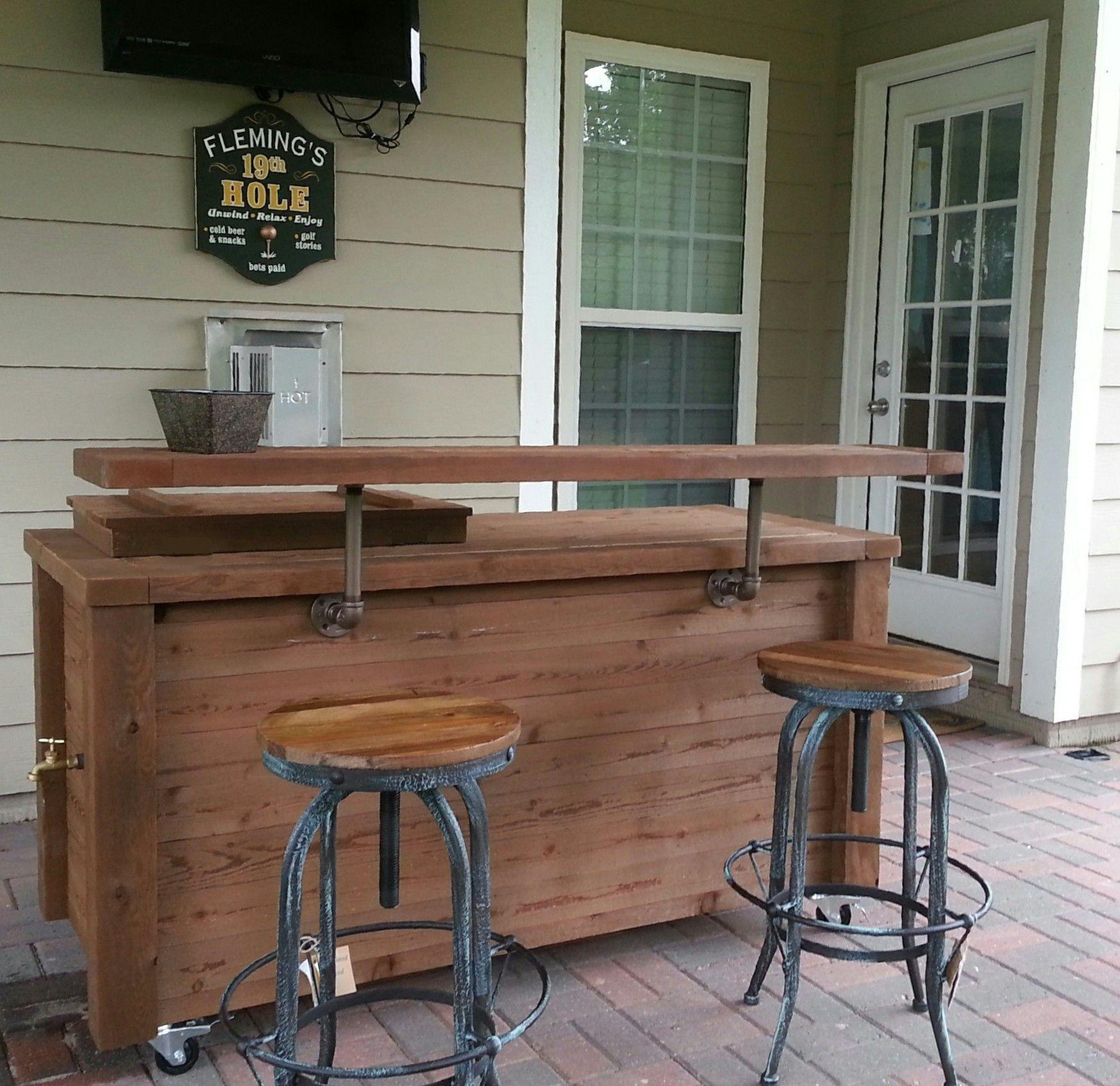 Pin by Rustic WoodWorx, LLC on Bars, Bar Cabinets, Etc ... on Portable Backyard Bar id=77938