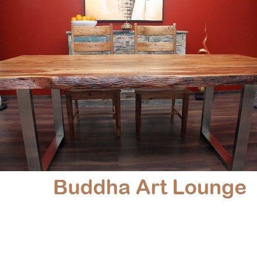 Esstisch Suar Holz Massiv 214x105x77 Stahl Tischbeine Küchentisch  Schreibtisch