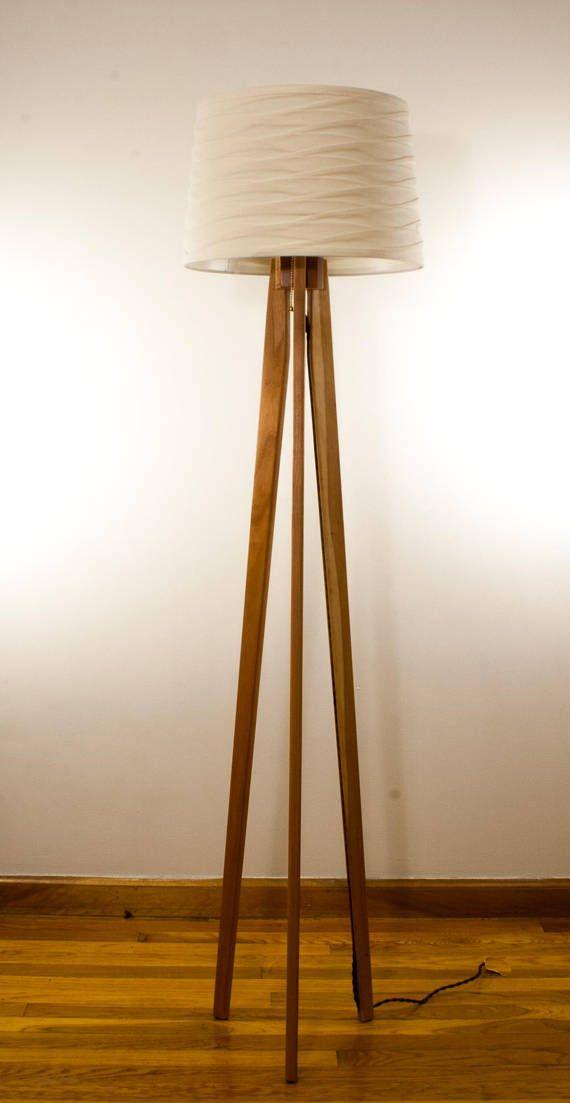 Tripod Floor Lamp Cherry Mid Century Modern Tripod Floor Lamps Lamp Floor Lamp