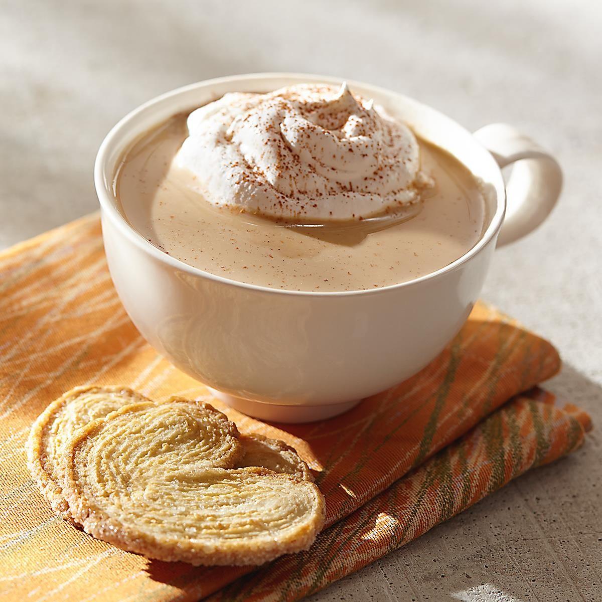 Creamy pumpkin spice coffee from dunkin donuts coffee